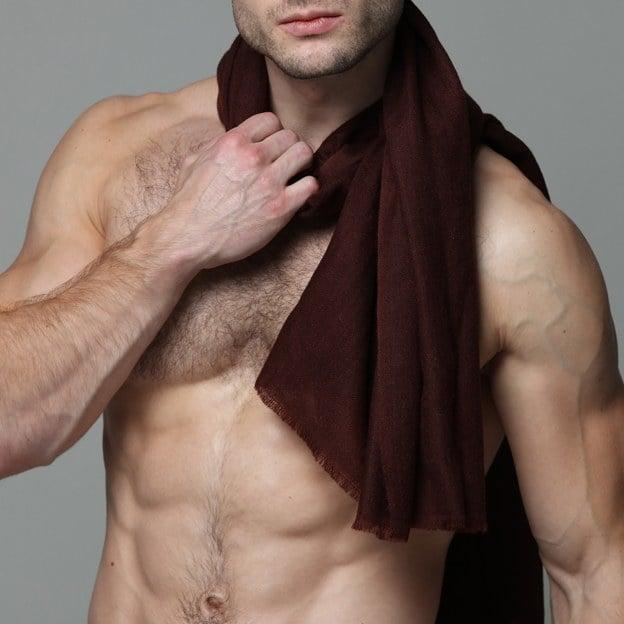 Pashmina sjal bordeaux farve fra ZLC.