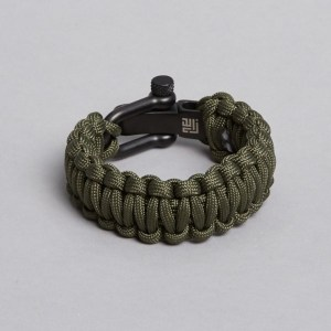 army paracord black lock recycled