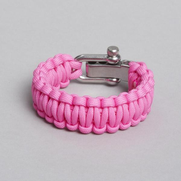 Pink bracelet, backside, by ZLC.