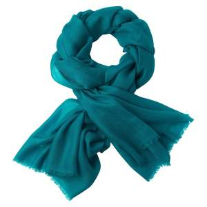 pashmina petrol blue colour by Zlcopenhagen