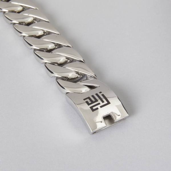 Heavy 30mm Wide Cuban Curb Stainless Steel Bracelet Danish Design