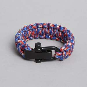 ZLC Blue, Red & White Paracord Bracelet