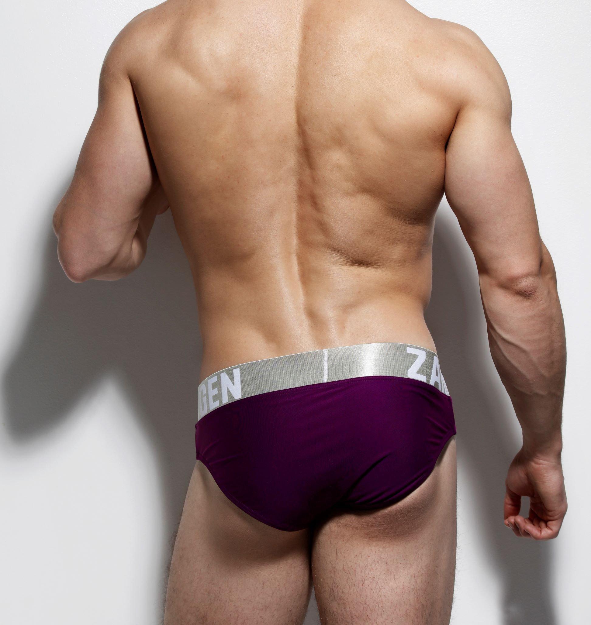 burgundy swimwear back by ZLCOPENHAGEN close up