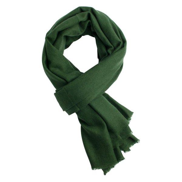 Army green pashmina shawl