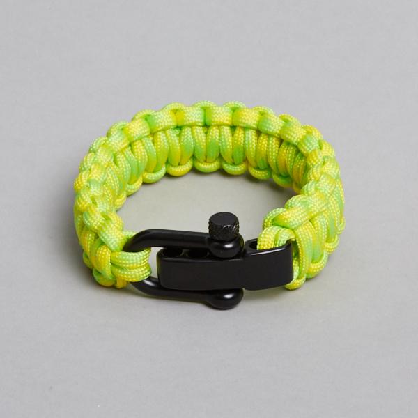 yellow green black bracelet