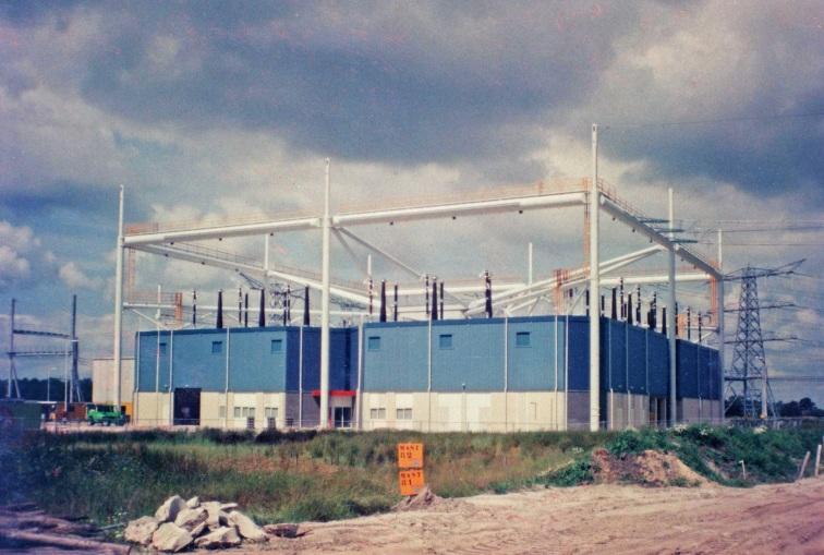 Station Meeden in aanbouw