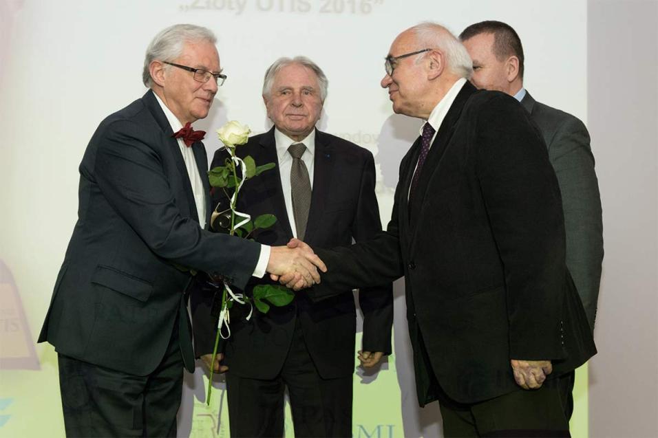 Dr Antoni Sydor otrzymał Honorową Nagrodę Zaufania Złoty OTIS 2016