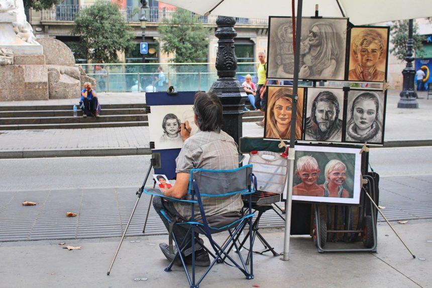 אמנות רחוב בברצלונה