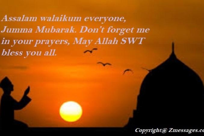 Jumma Mubarak Wishes Messages in Arabic