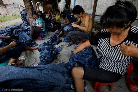 Sewing Jeans in Guangdong Province © Lu Guang / Greenpeace