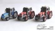 Papercraft recortable de Tractores Zetor / Zetor Tractors. Manualidades a Raudales.
