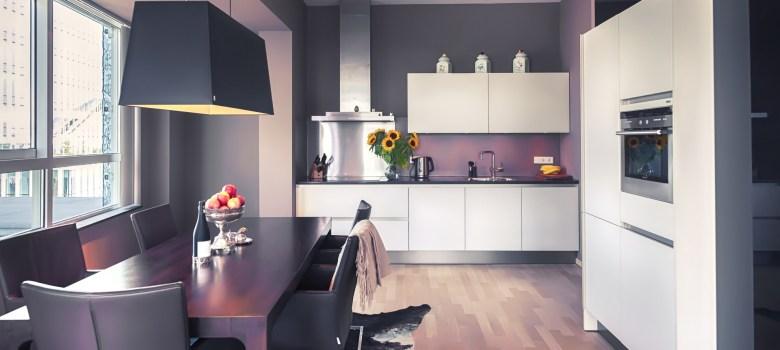 pokój dzienny z kuchnią