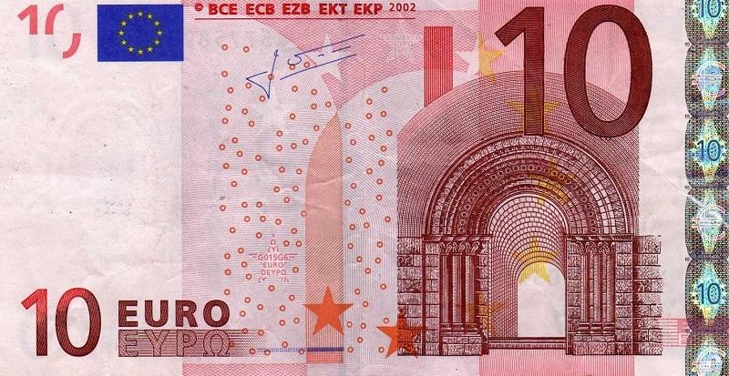 Az euró legnagyobb számlái