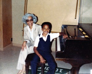 Mrs. Johnson and I after my first piano recital - June 15, 1986