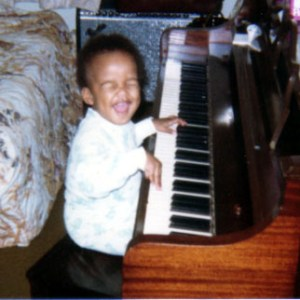 It's safe to say that I was excited about the piano at this age...