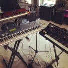 ZoTif, Nord Lead 2X, and the Moog Little Phatty... D.C. set up (May 2013)