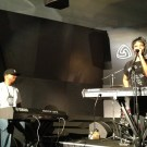 Me + Sy Smith rockin' twin Motifs at NAMM (Jan. 2013)