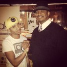 Durand Bernarr and I after the Cleveland shows (Dec. 2013)