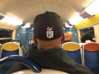 Riding the train in Paris