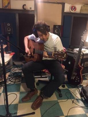 "Chris Boerner laying guitar on ""For Pops"" • 02.18.16"