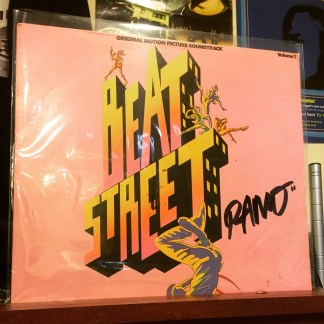 "Autographed 'Beat Street' vinyl sent to me by Jon Chardiet a/k/a ""RAMO"""