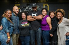 DJ Stylus, Butta (SoulBounce), Me, Susan and Laticia (MusicHead Collection) after the SkyBreak Listening Party in Silver Spring, MD • 05.22.16