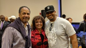 With Tim and Daphne Maxwell-Reid who as Northwestern's first Black Homecoming Queen in 1968, told her story in The Takeover