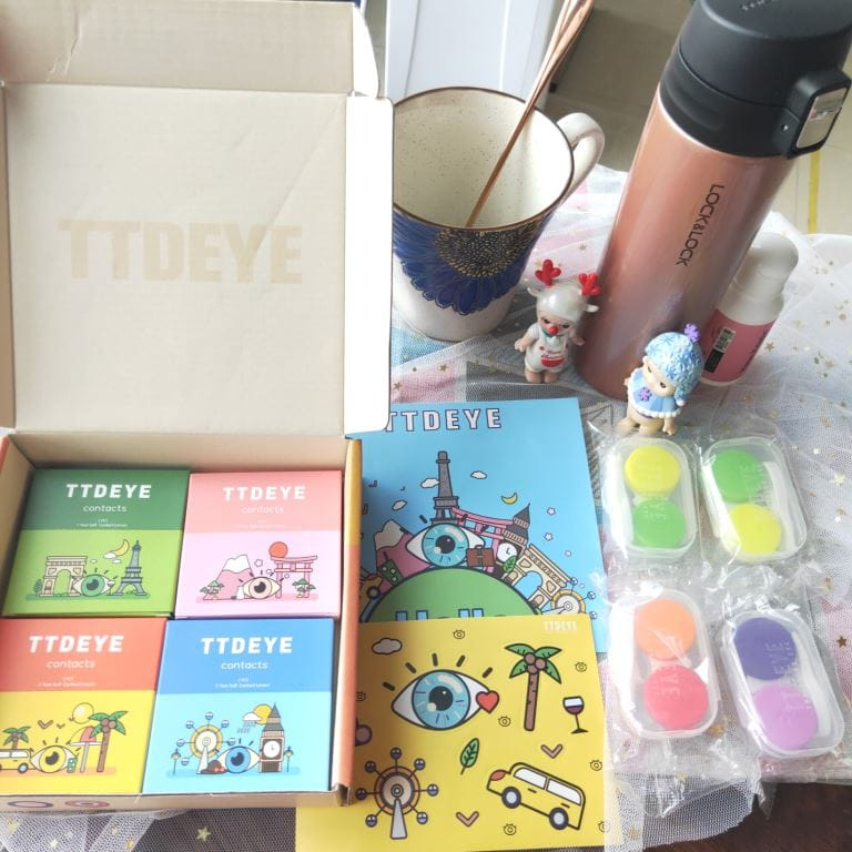 TTDeye Ocean Cyan Grey Colored Contact Lenses Review: Fashionable & Stylish 1