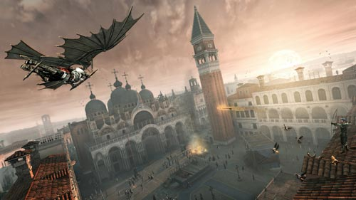 Assassin's Creed II: Ezio fliegt über Venedig