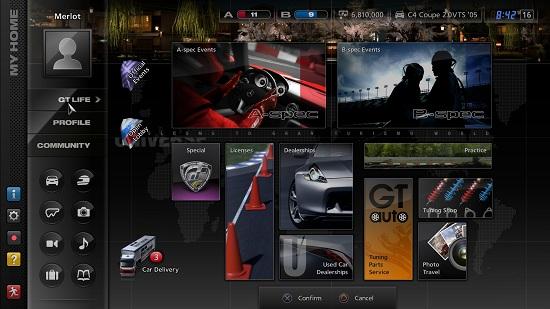 Gran Turismo 5: Hauptmenü