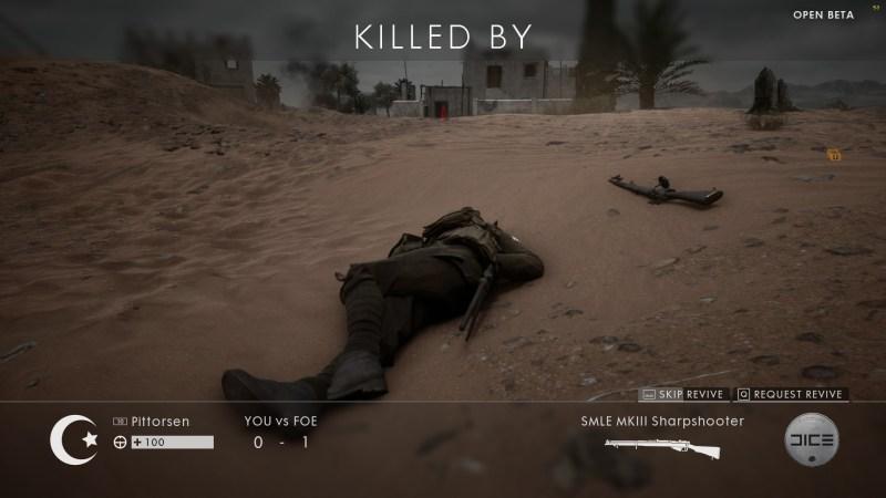 Battlefield 1 - Viele Bildschirmtode