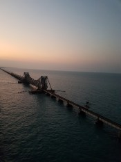 View of the Pamban Bridge