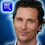 matthew mcconaughey zodiac sign scorpio
