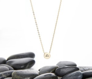 Libra Zodiac slider necklace
