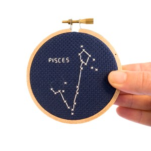 pisces cross stitch kit