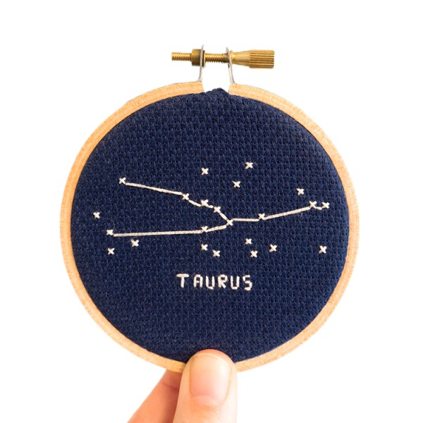 taurus cross stitch kit