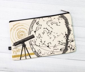 Astronomy Canvas Zipper Case Front