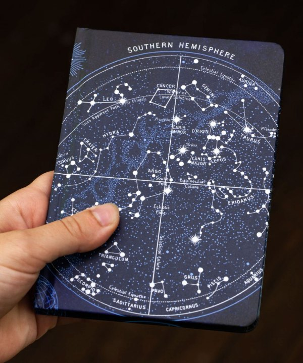 Constellation Journal held for scale
