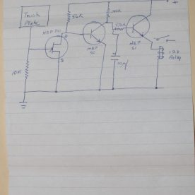 Touch Alarm System Diagram