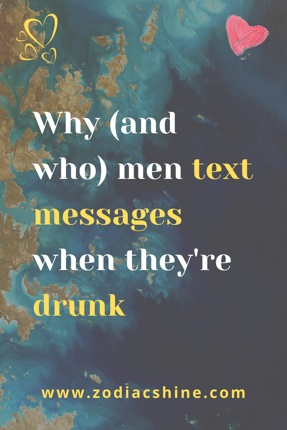 Why (and who) men text messages when they're drunk