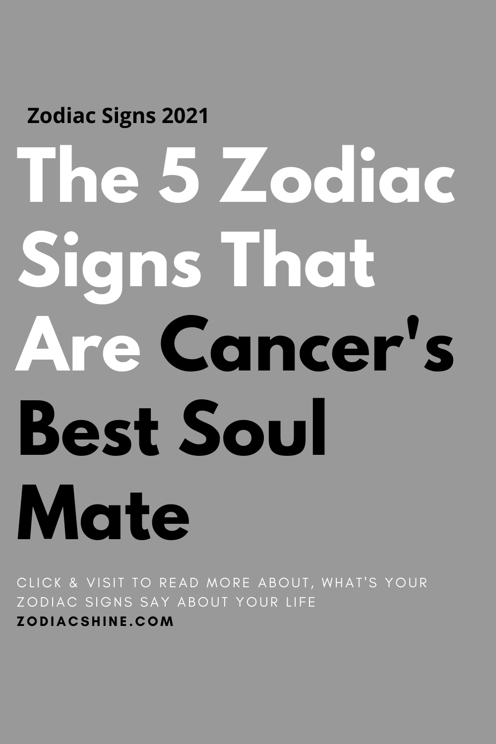 The 5 Zodiac Signs That Are Cancer's Best Soul Mate