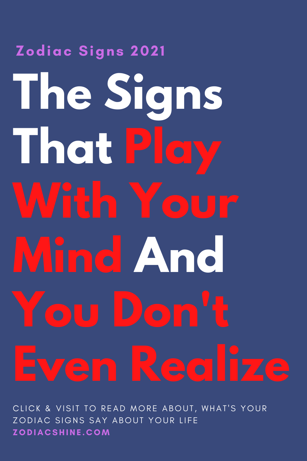 The Signs That Play With Your Mind And You Don't Even Realize