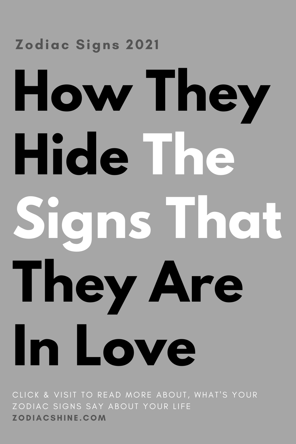 How They Hide The Signs That They Are In Love