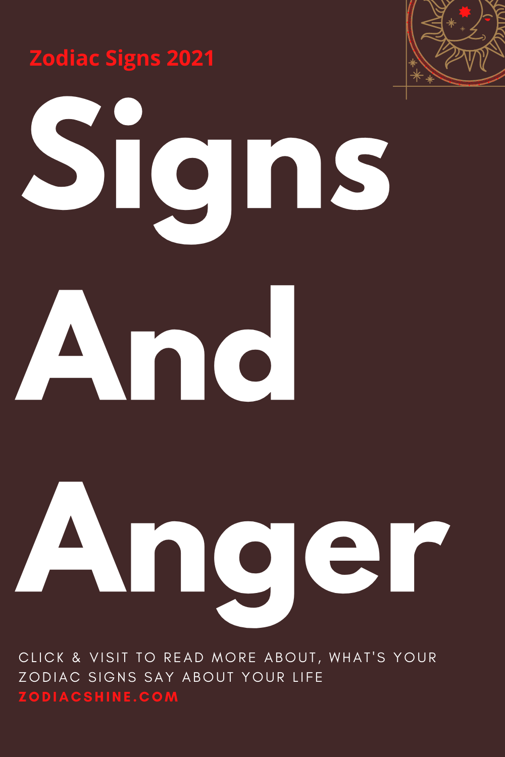 Signs And Anger