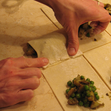 fold dough over filling