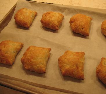 bake samosas until golden brown