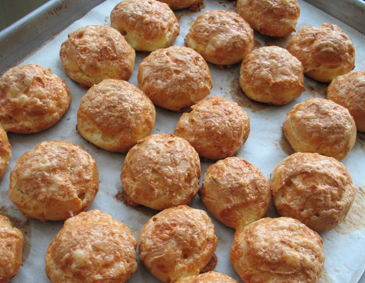 Gougères (snack food with the difficult name!)