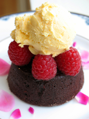 Warm Chocolate Rum Cake - Valentine's Day Desserts | ZoëBakes | Photo by Zoë François