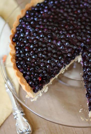 Wild Blueberry Tart Recipe | ZoëBakes | Photo by Zoë François