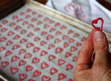 Honey Tuile Hearts   ZoëBakes   Photo by Zoë François